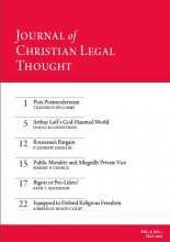 Journal of Christian Legal Thought - Fall 2016